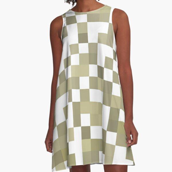 Structure, framework, composition, frame, texture,  decoration, motif, marking A-Line Dress