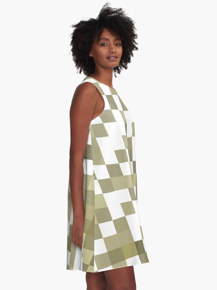 Alternate view of Structure, framework, composition, frame, texture,  decoration, motif, marking A-Line Dress