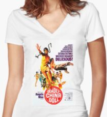Angela Mao Women's Fitted V-Neck T-Shirt