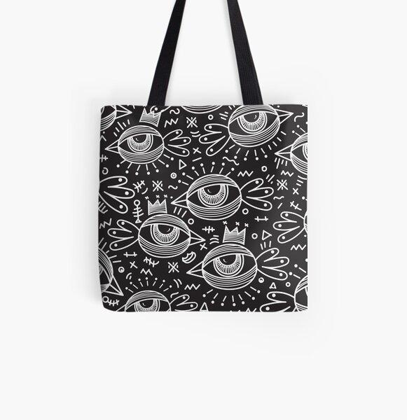 Black Birds Eye VIew - Monsthree All Over Print Tote Bag