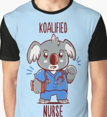 Koalified Nurse - Koala Animal Pun Shirt Graphic T-Shirt