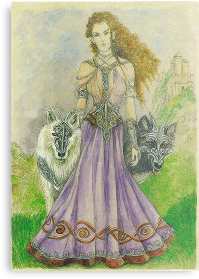 Elven Wolf Queen by morgansartworld