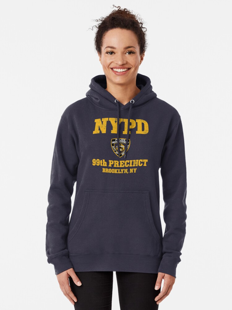 Alternate view of 99th Precinct - Brooklyn NY Pullover Hoodie