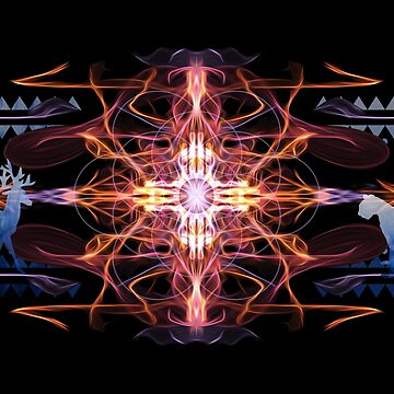Energetic Geometry - Tribal Communion  by LeahMcNeir