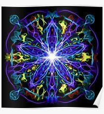 Energetic Geometry - moonlight flower bloom Poster