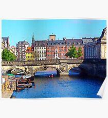 """Beautiful Copenhagen"", Photo / Digital Painting Poster"