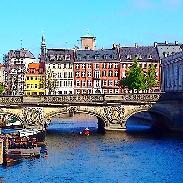 """Beautiful Copenhagen"", Photo / Digital Painting by KJACDesigns"