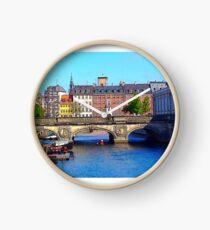 """Beautiful Copenhagen"", Photo / Digital Painting Clock"