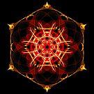 Energetic Geometry - Hexagon Mandala  by Leah McNeir