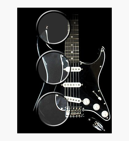 magnify my guitar 2 Photographic Print