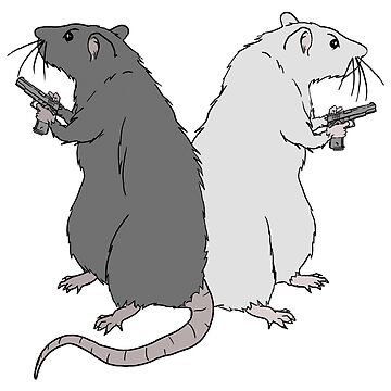 Rats with Gats by LeahMcNeir
