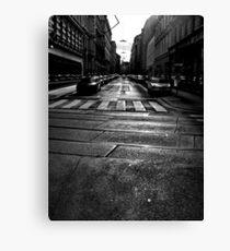 winter street. vienna, austria Canvas Print