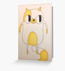cake the cat Greeting Card