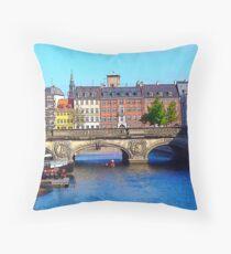 """Beautiful Copenhagen"", Photo / Digital Painting Throw Pillow"