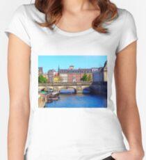 """Beautiful Copenhagen"", Photo / Digital Painting Women's Fitted Scoop T-Shirt"