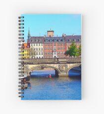 """Beautiful Copenhagen"", Photo / Digital Painting Spiral Notebook"