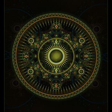 """Metatron's Magick Wheel"" - Fractal Art by LeahMcNeir"