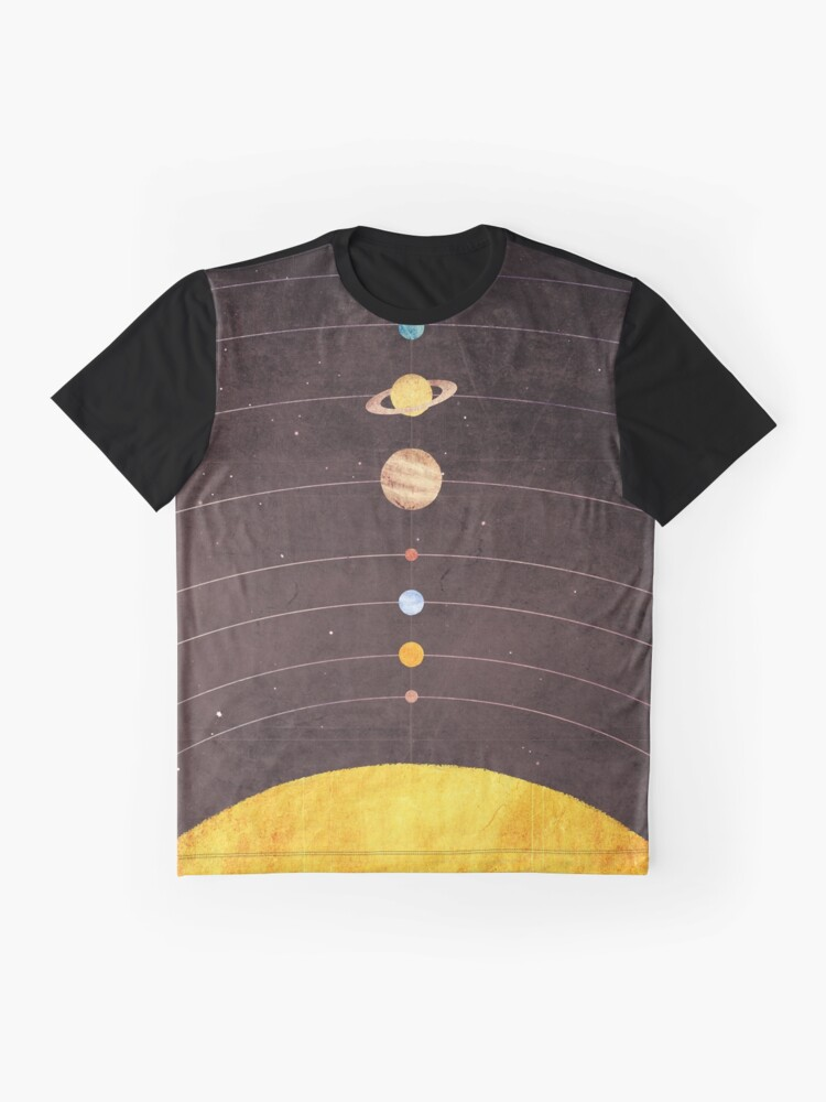 Alternate view of Solar System Graphic T-Shirt