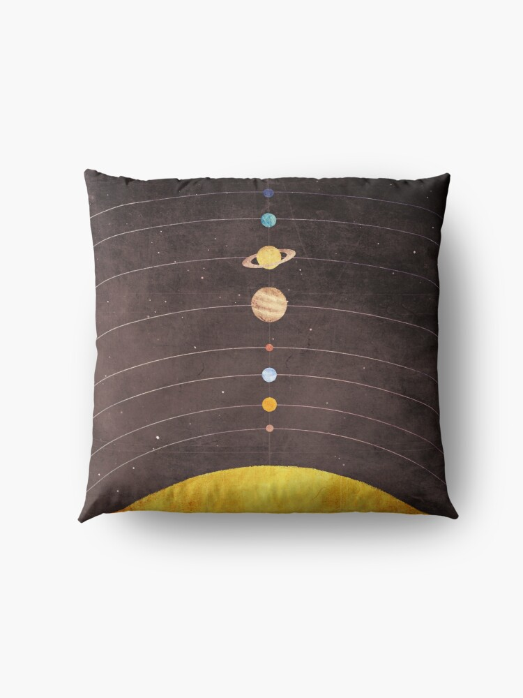 Alternate view of Solar System Floor Pillow