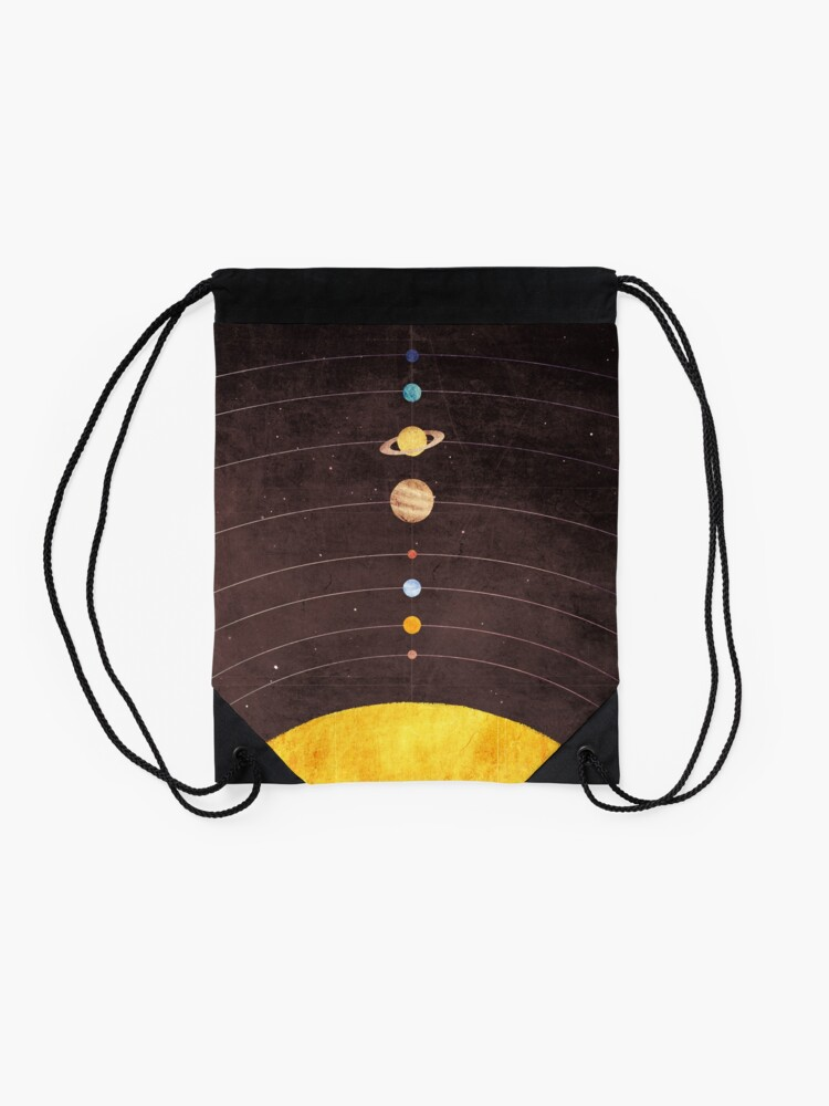 Alternate view of Solar System Drawstring Bag