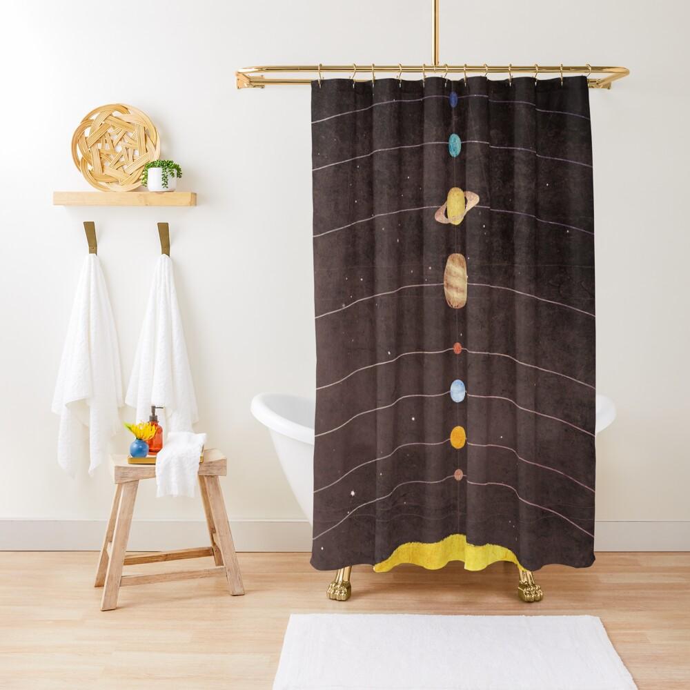 Solar System Shower Curtain