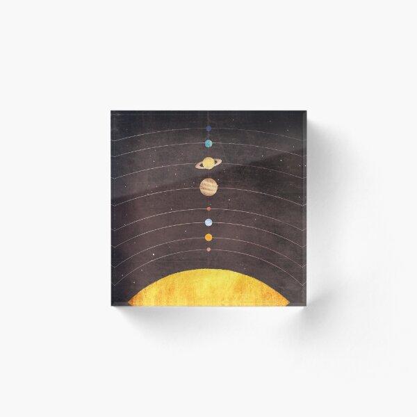 Solar System Acrylic Block