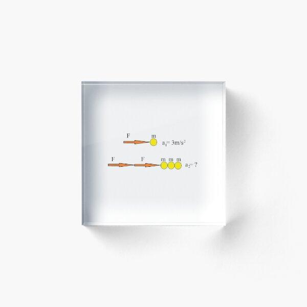 Physics Prints, Solve Physics Problem Defined by Visual Scheme Acrylic Block