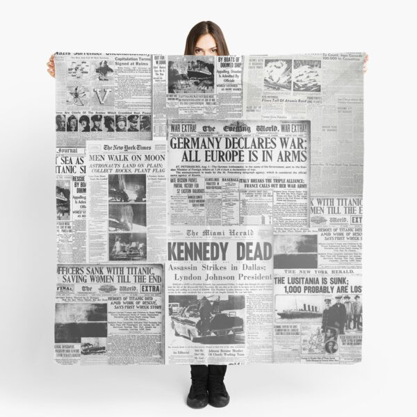 Newsprint 1 Scarf