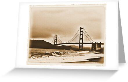 Golden Gate ~ Sepia Tone by NancyC