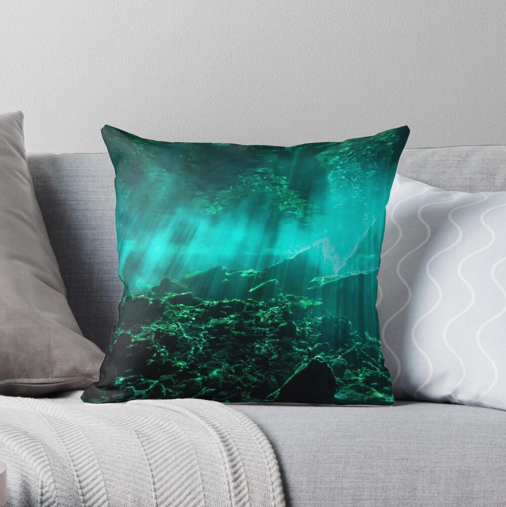 Gran Cenote Throw Pillow