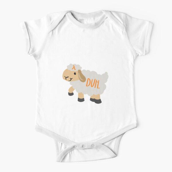 AWS Lamb Duh Short Sleeve Baby One-Piece