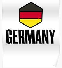 National Germany Shield Flag ~ German Germany Berlin Poster