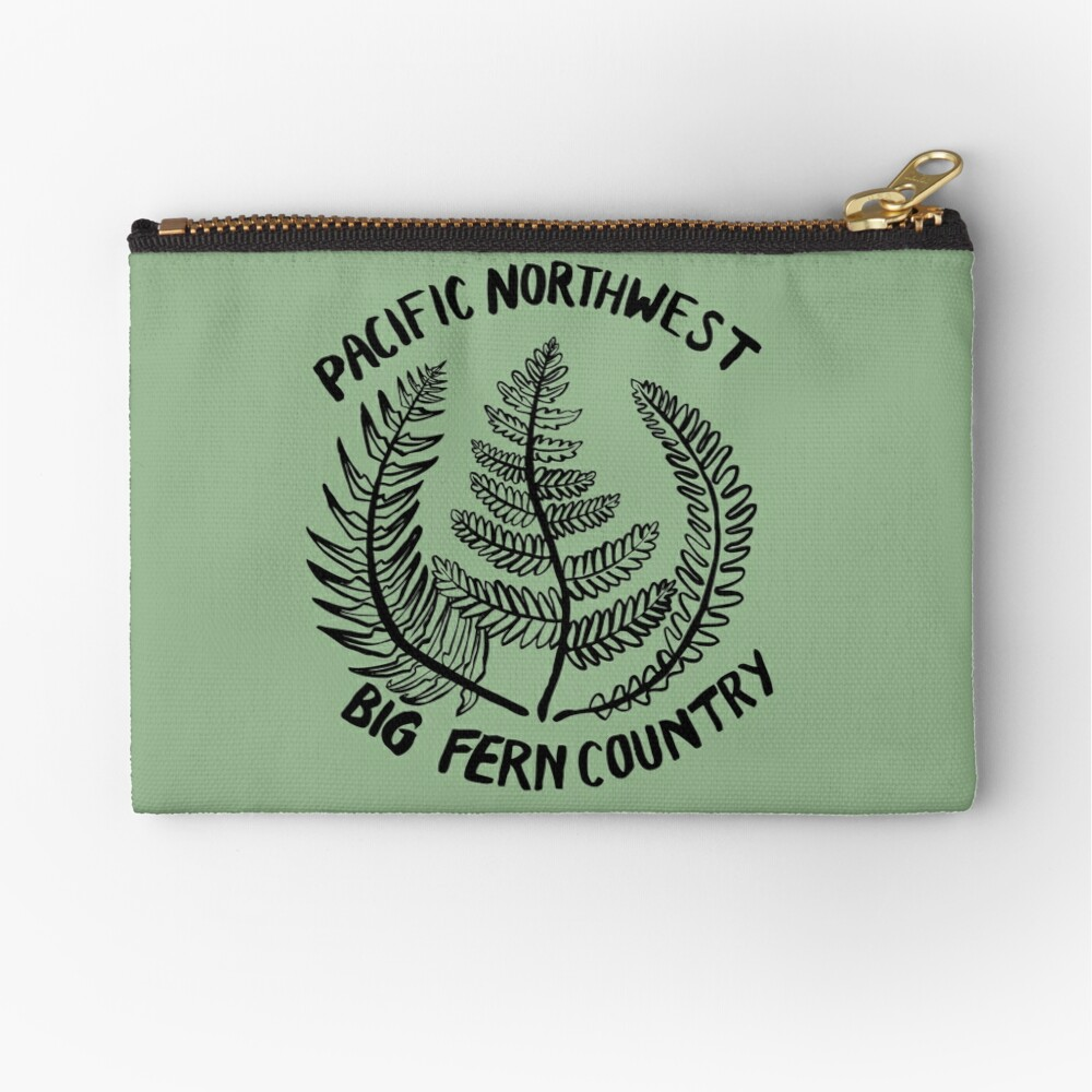 Pacific Northwest | Big Fern Country Zipper Pouch