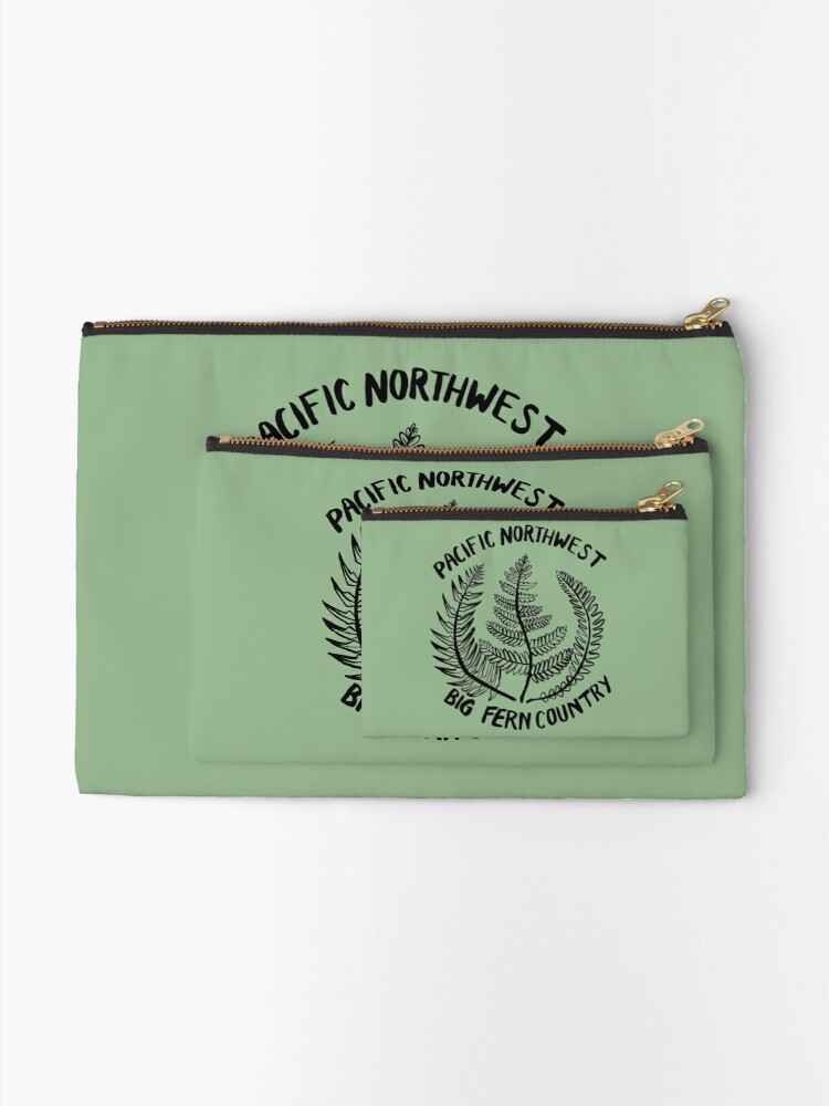 Alternate view of Pacific Northwest | Big Fern Country Zipper Pouch