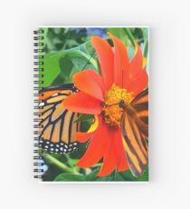 """""""Double Butterfly Love"""", Photo / Digital Painting Spiral Notebook"""