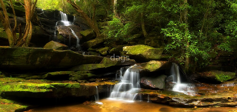 Somersby Falls Panorama by dags