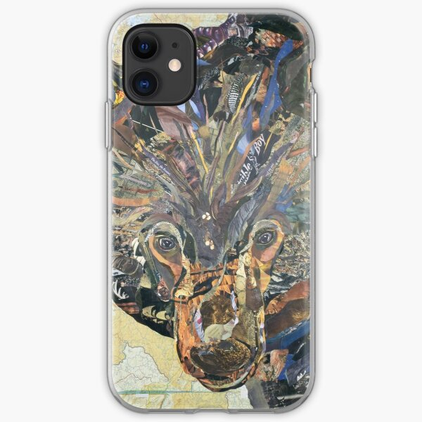 Black Bear Collage by C.E. White iPhone Soft Case