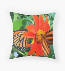 """""""Double Butterfly Love"""", Photo / Digital Painting Throw Pillow"""