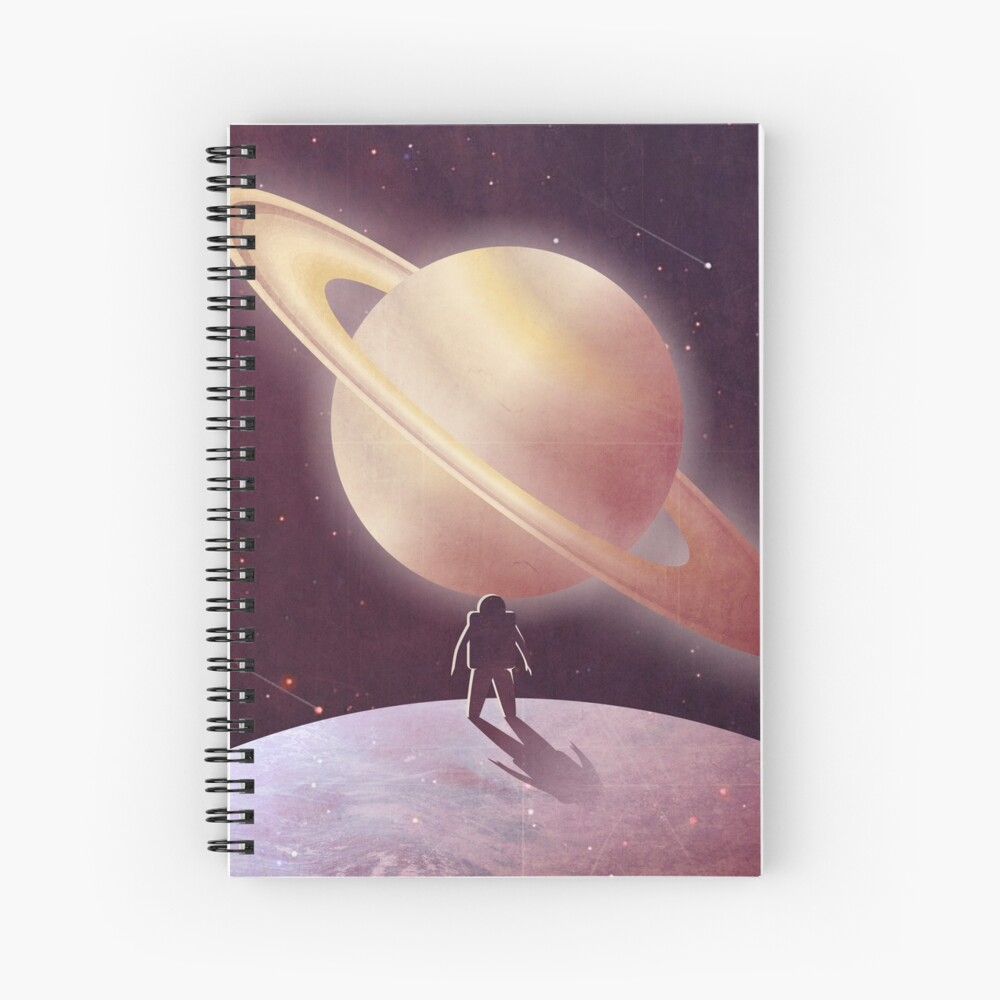 A View From Enceladus Spiral Notebook