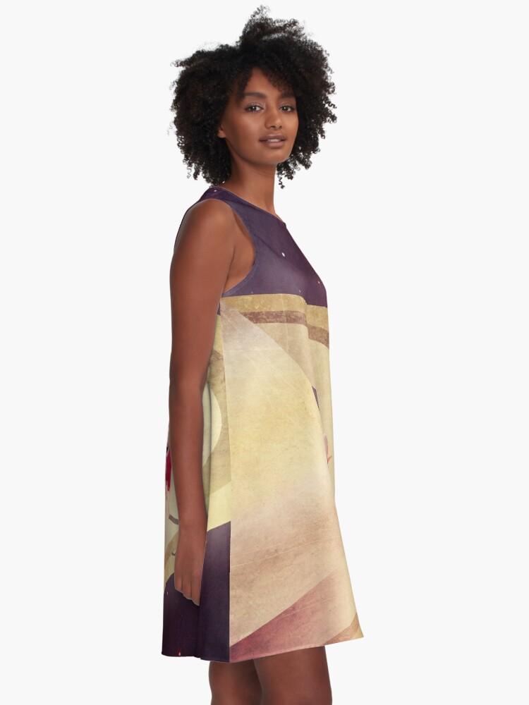 Alternative Ansicht von Saturn Kind A-Linien Kleid