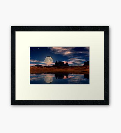 Harvest Moon Rising Framed Print
