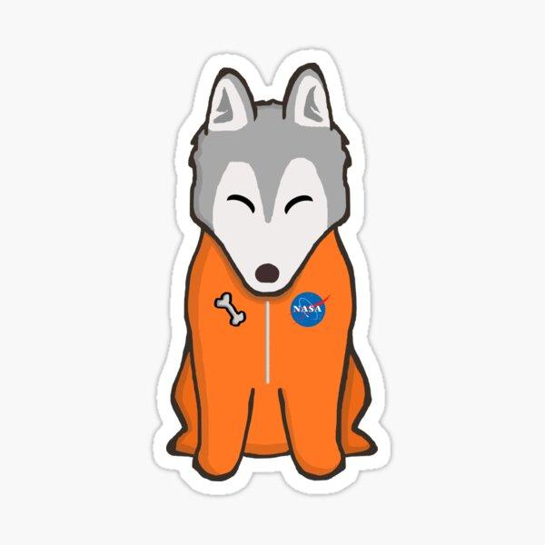 Space Husky Astronaut Sticker