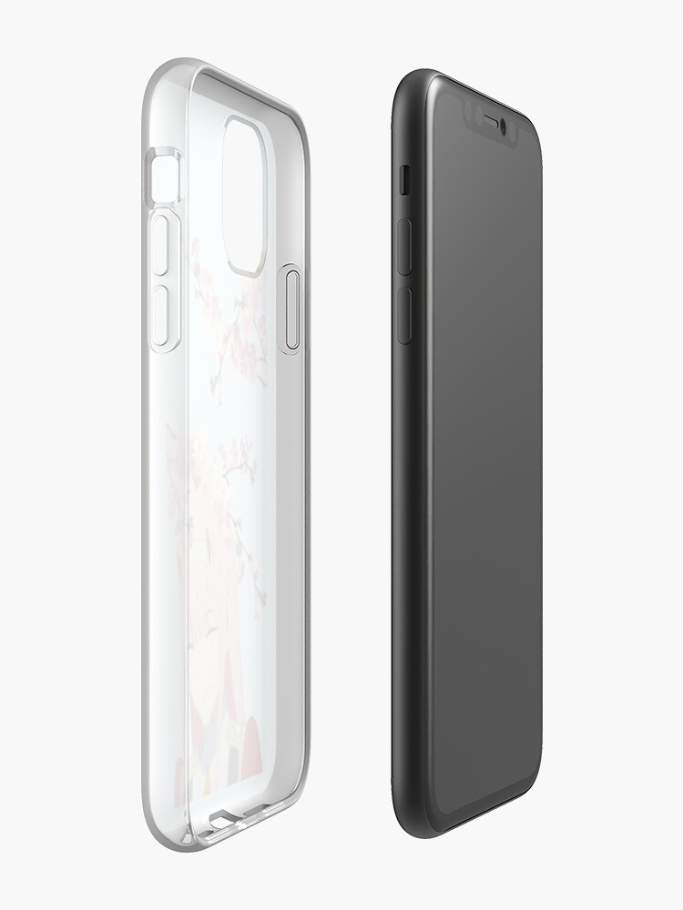 Vista alternativa de Funda y vinilo para iPhone Sakura Zero Two