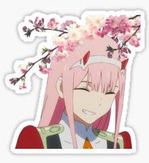 Sakura Zero Two Sticker