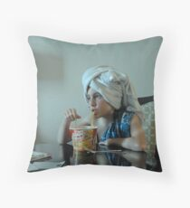 Souper Noodles Throw Pillow