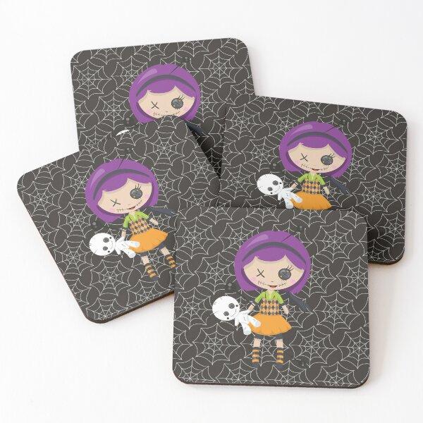 Violet Voodoo Coasters (Set of 4)