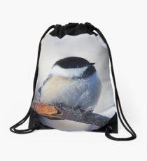 Black-capped chickadee photograph Drawstring Bag