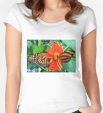 """Double Butterfly Love"", Photo / Digital Painting Women's Fitted Scoop T-Shirt"