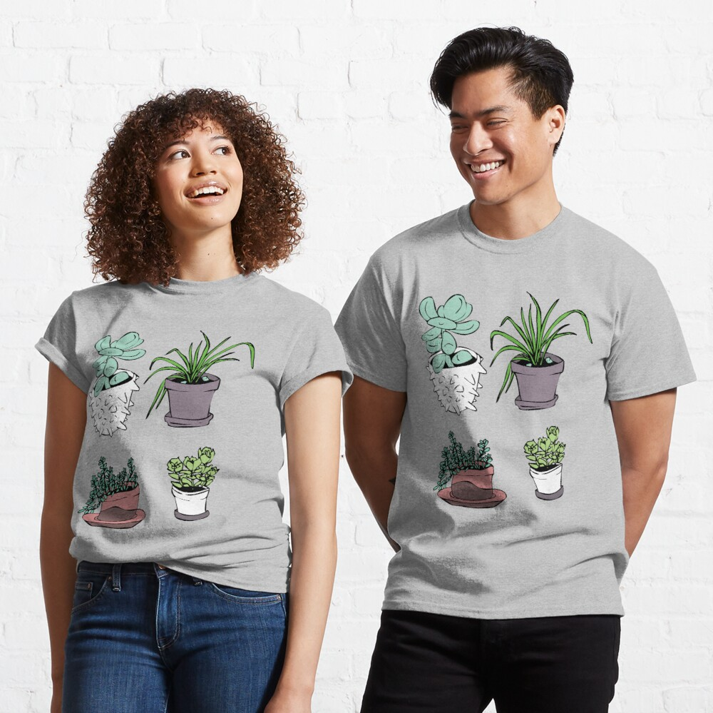 Succulents, Potted Plants Classic T-Shirt