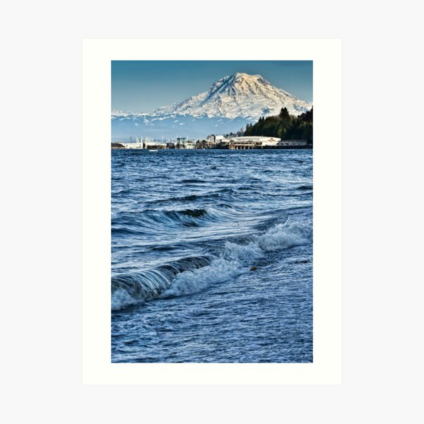 Overlooking the Sound Art Print
